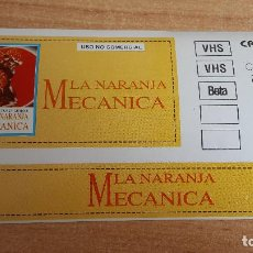 Cine: PEGATINA CINE PELICULA -- LA NARANJA MECANICA - STANLEY KUBRICK. Lote 145359914