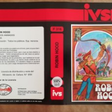 Cine: CARÁTULA PELÍCULA VÍDEO VHS IVS ROBIN HOOD - CINE ANIMACIÓN DIBUJOS ANIMADOS. Lote 145774446