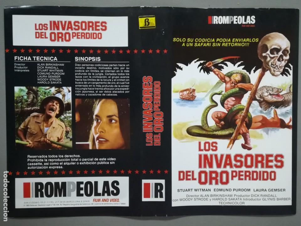 CARÁTULA VÍDEO BETA PELÍCULA LOS INVASORES DEL ORO PERDIDO (Cine - Varios)