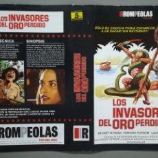 Cine: CARÁTULA VÍDEO BETA PELÍCULA LOS INVASORES DEL ORO PERDIDO. Lote 145852754