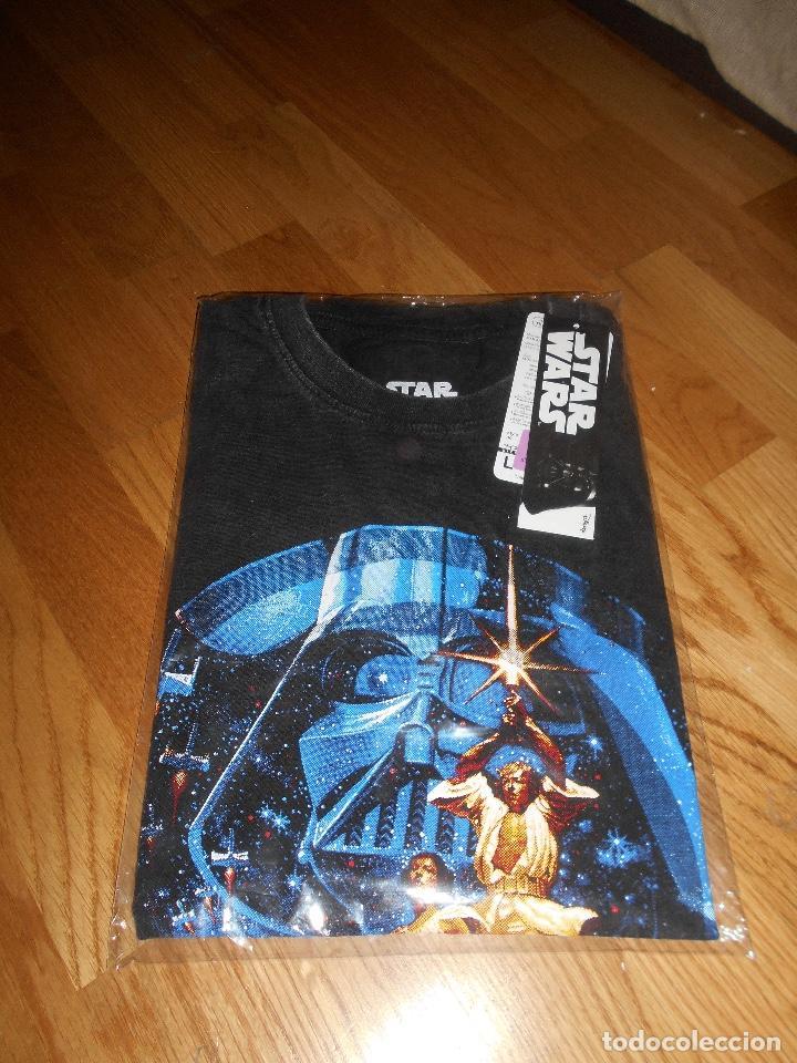 Cine: Camiseta manga corta STAR WARS TRILOGIA COLOR NEGRO TALLA L nueva ETIQUETA EXCLUSIVA DISNEY - Foto 2 - 146938142