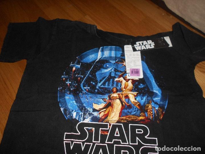 Cine: Camiseta manga corta STAR WARS TRILOGIA COLOR NEGRO TALLA L nueva ETIQUETA EXCLUSIVA DISNEY - Foto 5 - 146938142