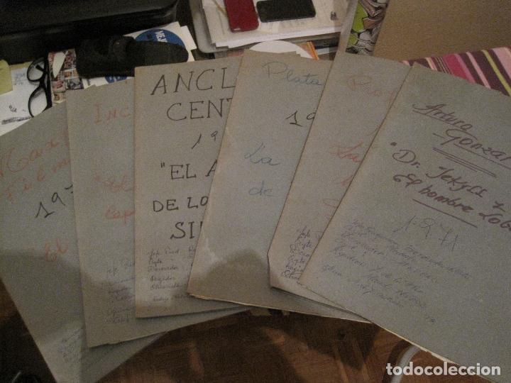 6 CARPETAS CON DESGLOSES DE ATREZZO DE CINE DE TERROR ESPAÑOL AÑOS 70(VER DESCRIPCIÓN)) (Cine - Varios)
