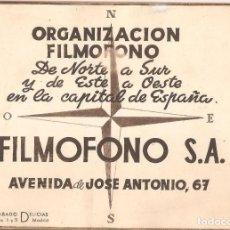 Cine: CATÁLOGO FILMÓFONO EN HUECOGRABADO DE CINES DE MADRID.EXTERIOR E INTERIOR DE DIEZ SALAS.. Lote 147589442