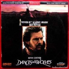 Cine: BAILANDO CON LOBOS. LASER DISC. 2 DISCOS. AÑO: 1990. VERSIÓN USA. GANADORA DE 7 OSCARS. . Lote 147615858