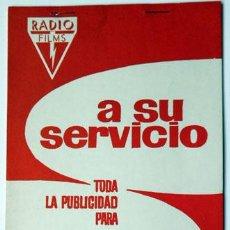 Cine: CINE PUBLICIDAD PELÍCULA UNA NOCHE UN TREN RADIO FILMS FICHA TÉCNICA ARTÍSTICA GACETILLAS SIPNOSIS. Lote 147656810