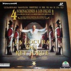 Cine: LASER DISC-LA LOCURA DEL REY JORGE-GANADORA DE 1 OSCAR 1995 * COMO NUEVÔ * (COMPRA MINIMA 15 EUROS). Lote 147739338