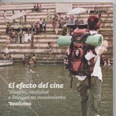 Cine: EXPOSICIÓN EL EFECTO DEL CINE 2011 FUNDACIÓN LA CAIXA PROGRAMA DE MANO EXTENSIBLE TARJETAS. Lote 148075794