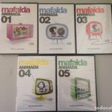 Cine: LOTE MAFALDA ANIMADA DEL 1 AL 5. Lote 148494781
