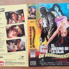 Cinema: CARÁTULA PELÍCULA VÍDEO VHS EL ASESINO DE LA CAJA DE HERRAMIENTAS - DENNIS DONNELLY CAMERON MITCHELL. Lote 148496090