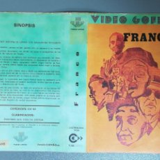 Cine: CARÁTULA PELÍCULA VÍDEO VHS DOCUMENTAL FRANCO - VÍDEO GOFER. Lote 150757494