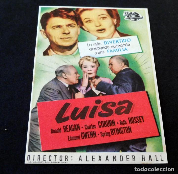 PROGRAMA DE CINE - FOLLETOS DE MANO (VER FOTOS) LUISA - CINE MUNDIAL DE LA BISBAL - AÑO 1952 (Cine - Varios)