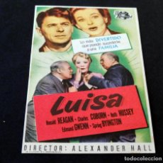 Cine: PROGRAMA DE CINE - FOLLETOS DE MANO (VER FOTOS) LUISA - CINE MUNDIAL DE LA BISBAL - AÑO 1952. Lote 151147098