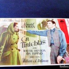 Cine: PROGRAMAS DE CINE - FOLLETOS DE MANO - EN TINIEBLAS - CINE MODERNO. Lote 151319494