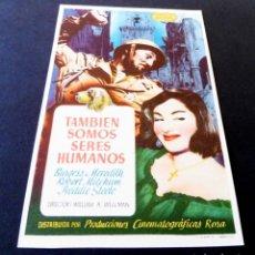 Cine: PROGRAMAS DE CINE - FOLLETOS DE MANO - TAMBIÉN SOMOS SERES HUMANOS - CINE OLYMPIA DE LA BISBAL. Lote 151320830
