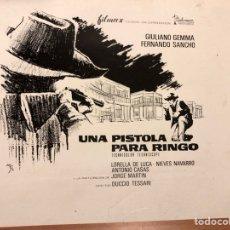 Cine: CLICHÉ PARA PRENSA UNA PISTOLA PARA FINGO.GIULIANO GEMMA FERNANDO SANCHO 17X15 CM. Lote 151909489