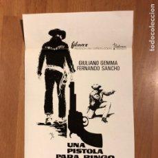 Cine: CLICHÉ PARA PRENSA UNA PISTOLA PARA FINGO.GIULIANO GEMMA FERNANDO SANCHO 19X11 CM. Lote 151909525