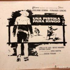 Cine: CLICHÉ PARA PRENSA UNA PISTOLA PARA FINGO.GIULIANO GEMMA FERNANDO SANCHO 17X15 CM. Lote 151909664