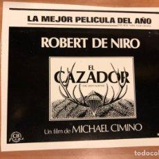 Cine: CLICHÉ PARA PRENSA EL CAZADOR ROBERT DE NIRO.15,5X12,5 CM. Lote 151909754