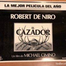 Cine: CLICHÉ PARA PRENSA EL CAZADOR ROBERT DE NIRO.20,5X16,5 CM. Lote 151909808