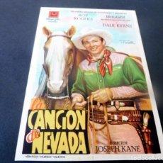 Cine: PROGRAMA DE CINE - FOLLETOS DE MANO - SIN PUBLICIDAD - CANCIÓN DE NEVADA. Lote 151998870