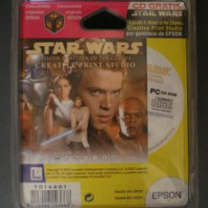 Cine: STAR WARS: CD EP.II ATTACK OF THE CLONES, CREATIVE PRINT STUDIO, CON CARTUCHO EPSON COLOR. SIN ABRIR. Lote 155455998