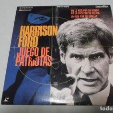 Cine: LASER DISC - JUEGO DE PATRIOTAS. Lote 156008670