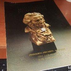 Cine: PRIMER PROGRAMA DE LOS PREMIOS GOYA, ACADEMIA ARTES Y CIENCIAS CINEMATOGRAFICAS DE ESPAÑA 1987. Lote 156061642