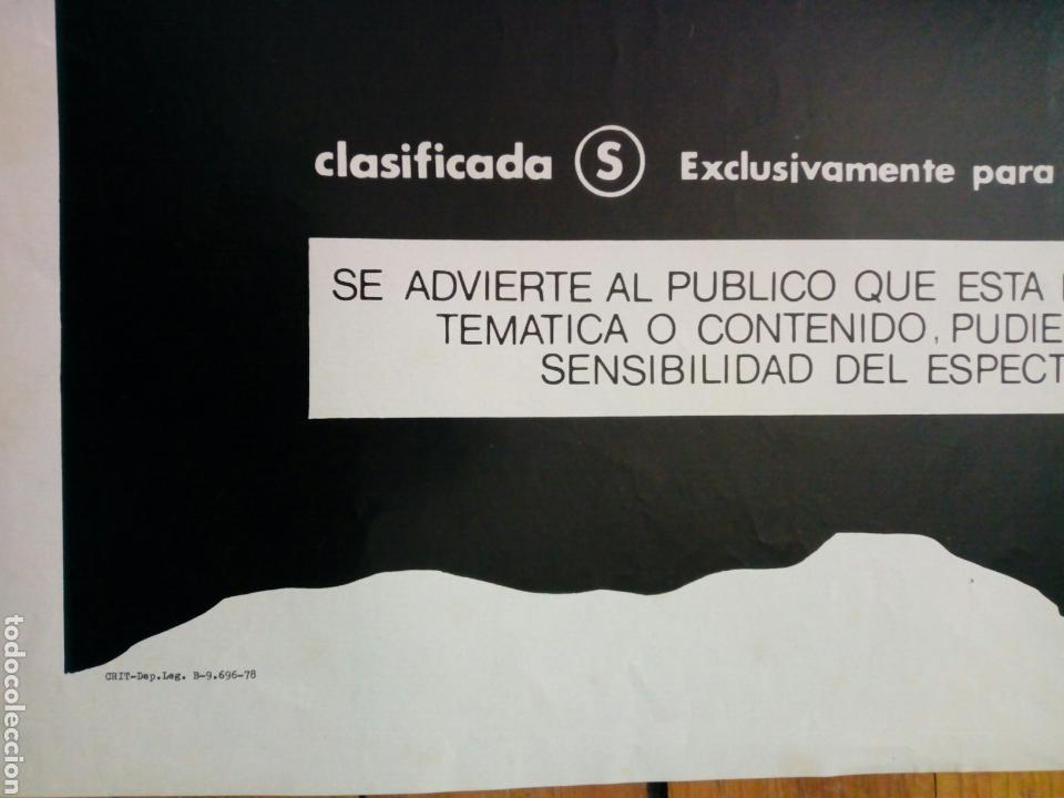 Cine: Cartel original de cine (1978): LIBERTAD SEXUAL EN DINAMARCA - Clasificada S - - Foto 3 - 156822374