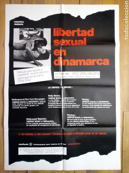CARTEL ORIGINAL DE CINE (1978): LIBERTAD SEXUAL EN DINAMARCA - CLASIFICADA S - (Cine - Varios)