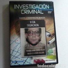 Cine: DVD DOCUMENTAL INVESTIGACIÓN CRIMINAL - VIDA TORCIDA CRIMEN EEUU TÉCNICAS DE INVESTIGACIÓN CASO REAL. Lote 157264594