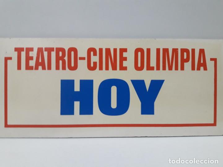 Cine: ORIGINAL CARTEL DE LA CARTELERA DEL TEATRO - CINE OLIMPIA DE HUESCA . TEATRO - CINE OLIMPIA HOY - Foto 2 - 158946254