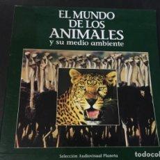 Cine: LASER DISC EL MUNDO DE LOS ANIMALES Y SU MEDIO AMBIENTE TIME BBC 9 DISCOS CON CATALOGO VER FOTOS. Lote 161721406
