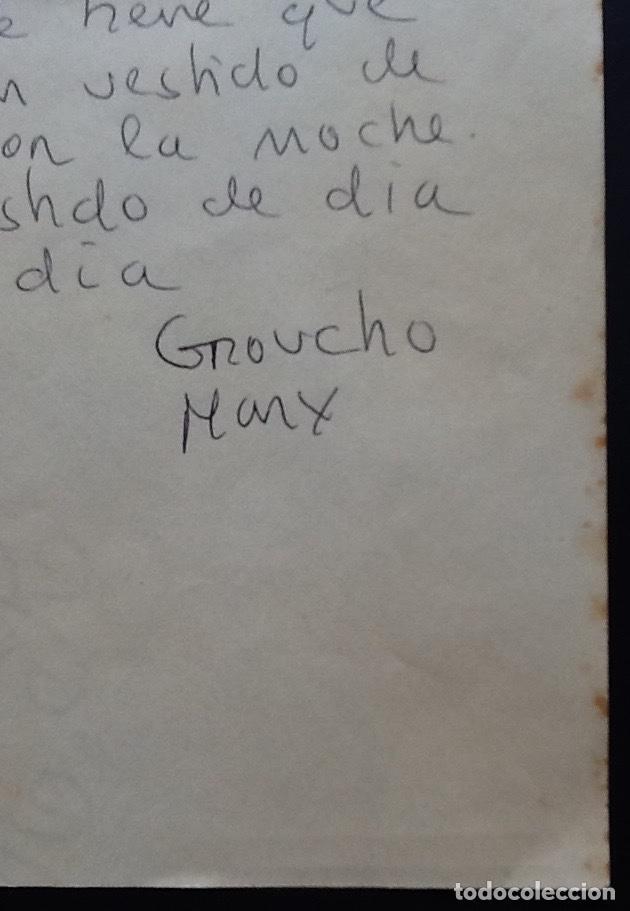 Cine: GROUCHO MARX. CURIOSO DIBUJO-FRASE-OPPER MEXICO 1936. ENVIO CERTIFICADO INCLUIDO. - Foto 4 - 162566474