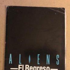 Cine: ALIENS: EL REGRESO (JAMES CAMERON, SIGOURNEY WEAVER). CARPETA PROMOCIONAL DE LA PELÍCULA (1986).. Lote 164332210
