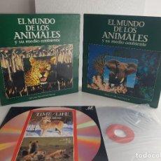 Cine: EL MUNDO DE LOS ANIMALES LOTE 20 LASER DISC NATIONAL GEOGRAPHIC COSTEAU TIME BBC DOCUMENTAL. Lote 165875886