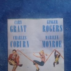 Cine: FICHA COLECCIONABLE MONKEY BUSINESS. GARY GRANT, MARILYN MONROE, CHARLES COBURN, GINGER ROGERS. . Lote 165885930