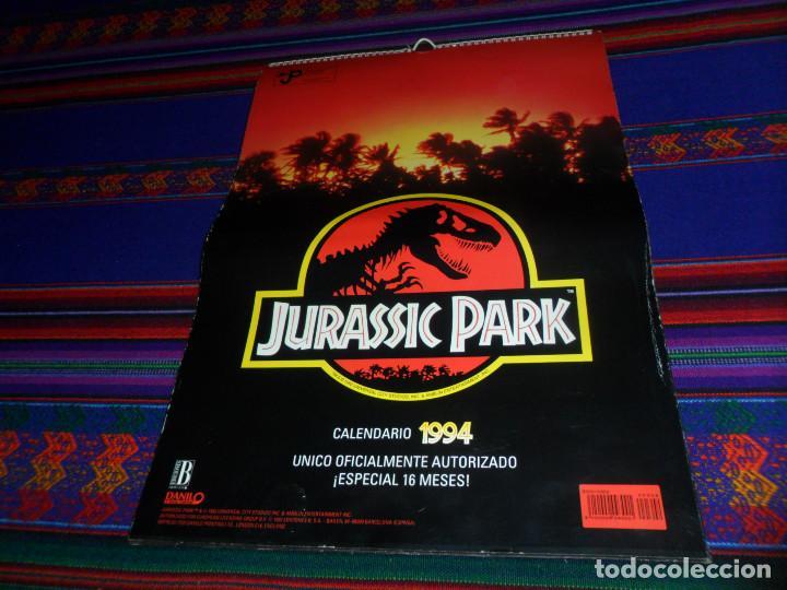 CALENDARIO DE PARED OFICIAL 1994 JURASSIC PARK PARQUE JURÁSICO. EDICIONES B. MUY RARO. (Cine - Varios)