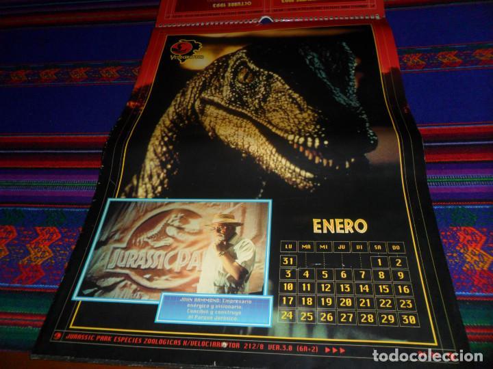 Cine: CALENDARIO DE PARED OFICIAL 1994 JURASSIC PARK PARQUE JURÁSICO. EDICIONES B. MUY RARO. - Foto 3 - 165944814