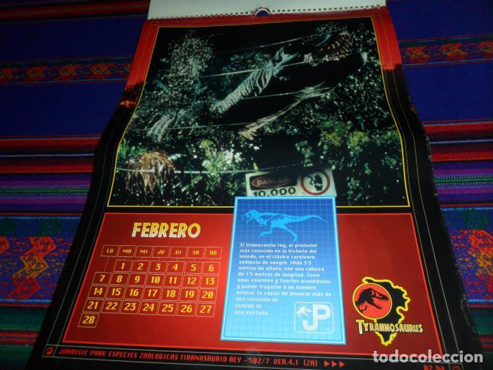 Cine: CALENDARIO DE PARED OFICIAL 1994 JURASSIC PARK PARQUE JURÁSICO. EDICIONES B. MUY RARO. - Foto 4 - 165944814