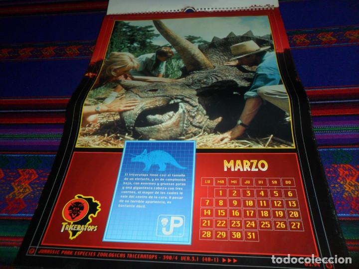 Cine: CALENDARIO DE PARED OFICIAL 1994 JURASSIC PARK PARQUE JURÁSICO. EDICIONES B. MUY RARO. - Foto 5 - 165944814