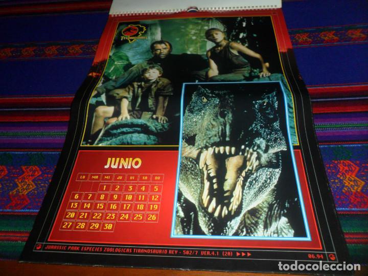 Cine: CALENDARIO DE PARED OFICIAL 1994 JURASSIC PARK PARQUE JURÁSICO. EDICIONES B. MUY RARO. - Foto 8 - 165944814