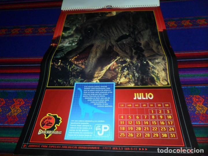 Cine: CALENDARIO DE PARED OFICIAL 1994 JURASSIC PARK PARQUE JURÁSICO. EDICIONES B. MUY RARO. - Foto 9 - 165944814