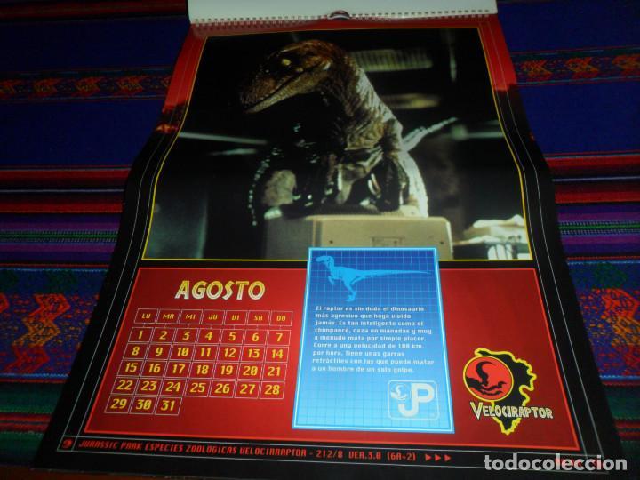 Cine: CALENDARIO DE PARED OFICIAL 1994 JURASSIC PARK PARQUE JURÁSICO. EDICIONES B. MUY RARO. - Foto 10 - 165944814
