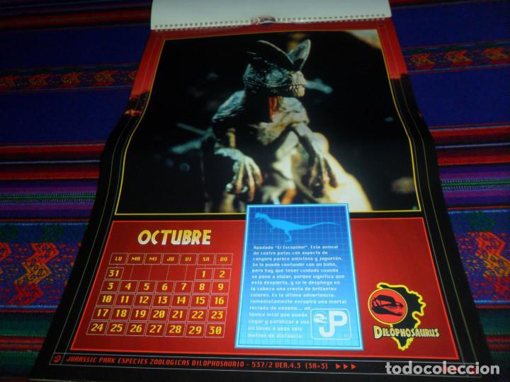 Cine: CALENDARIO DE PARED OFICIAL 1994 JURASSIC PARK PARQUE JURÁSICO. EDICIONES B. MUY RARO. - Foto 12 - 165944814