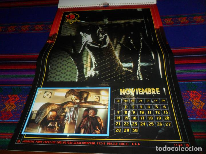 Cine: CALENDARIO DE PARED OFICIAL 1994 JURASSIC PARK PARQUE JURÁSICO. EDICIONES B. MUY RARO. - Foto 13 - 165944814