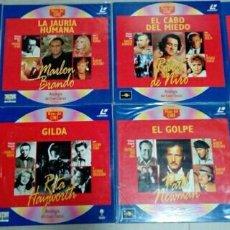 Cine: LOTE 8 LASER DISC DE CINE CLÁSICO: BONNIE & CLYDE, BATMAN, SIN PERDON, EL GOLPE, GILDA... LASERDISC. Lote 170402756