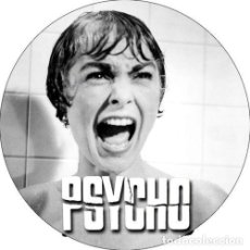 Cine: CHAPA/BADGE PSYCHO . PIN BUTTON ALFRED HITCHCOCK JANET LEIGH ANTHONY PERKINS. Lote 170452268