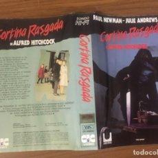Cine: CARATULA VIDEO CAJA GRANDE HITCHCOCK CORTINA RASGADA. Lote 170899025