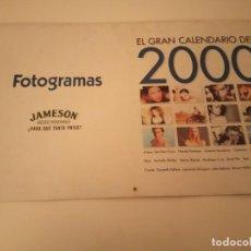 Cine: CALENDARIO FOTOGRAMAS AÑO 2000 TOM CRUISE, GWYNETH PALTROW, CAMERON DÍAZ. Lote 171072329